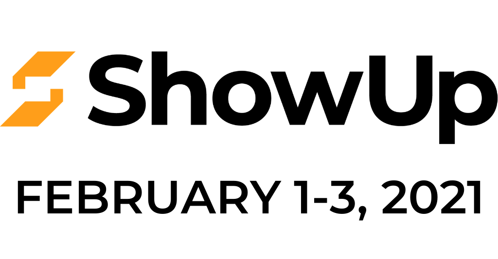 SHowup logo and date for website