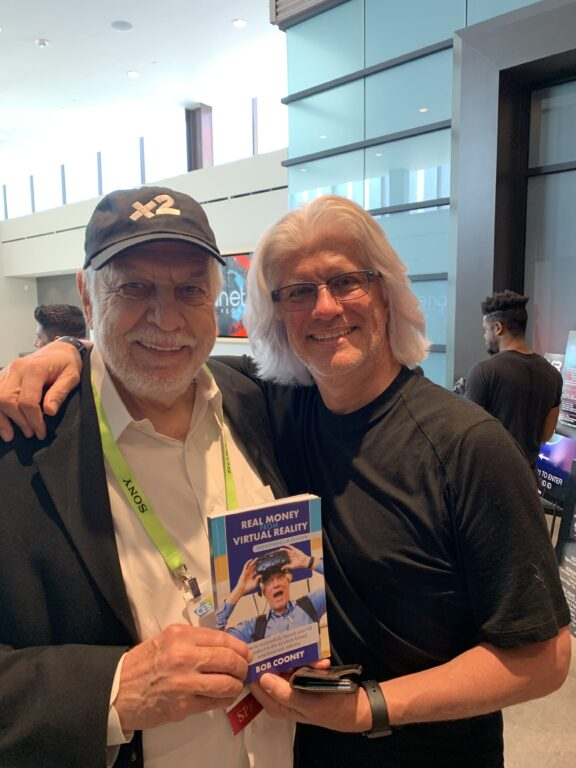Nolan Bushnell and Bob Cooney at VRFest in Las Vegas Photo Copyright Bob Cooney 2019